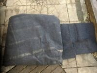 Hard-wearing dark blue carpet (approx 3m x 3.5m)