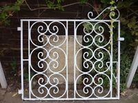 Wrought Iron Garden Gates x 2