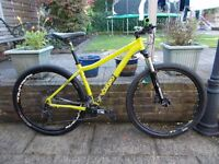 2016 Voodoo Bizango 29er mountain bike size medium 18 inch ridden a couple of times on canal