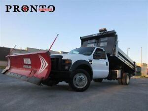 2008 Ford F-550 4WD ** Dompeur ** Pelle a neige ** Selleuse **
