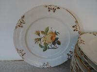 Ornamental dinner or desert plates