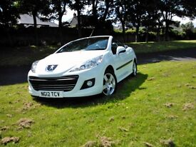 Peugeot 207CC Active Coupe Convertible. White.