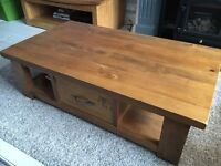 Solid pine coffee table with large drawer, Hartford range from Next
