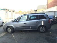 55 reg vauxhall zafira 1.9 diesel 7 seater SPARES OR REPAIR NO CLUTCH