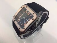 New Cartier Ceramic Case Watch with rubber strap