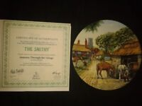 Mick Bentley Royal Doulton boxed collecters plate comes with certificate. plate numbered