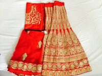 Beautiful Blood Red Bridal Lengha *BRAND NEW*