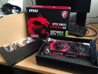 MSI Geforce GTX 980 TI GAMING 6G Graphics Card - AS NEW