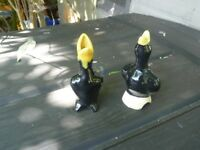 2 ceramic birds for pies
