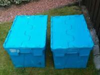 Extra large Storage boxes x 2