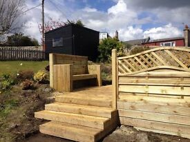 SHEDS ,GARAGES ,SUMMERHOUSES ,PLAYHOUSES,FENCING AND DECKING SUPPLIED