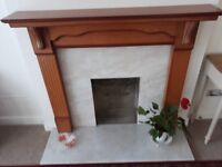 Lovely fireplace and Marble surround and brass fire surround and grate