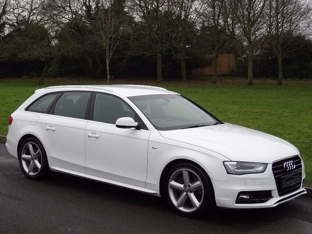 1 owner 2013 audi a4 avant 2 0 tdi s line 5dr estate ibis white xenon plus headlamps in. Black Bedroom Furniture Sets. Home Design Ideas