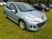 Peugeot 207 hdi 5 door hatch fsh year mot cheap car Kent