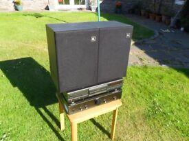 HI-FI SEPERATES TECHNICS CD PLAYER & PROMETHEAN AMP JBL SPEAKERS, FORFAR ANGUS