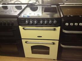 Black/Cream Rangemaster 60cm electric cooker (fan oven)