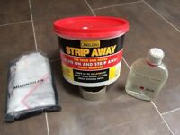 Strip Away chemical paint remover inc. accessories - half used