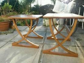 Mid century, teak tables. Nathan Furniture.