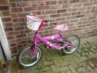 Girly kids bike ages 5-8 approx