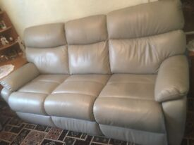 3 seater and 2 chairs. Leather