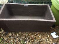 Huge heavy garden plant pot / trough