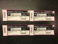 X4 SEATED ED SHEERAN TICKETS. £110 each. Saturday 26th May, Etihad Arena, Manchester. Block 211.