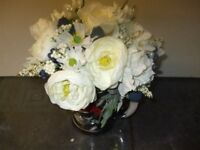 Bridesmaid artifical white flowers posy 26in round