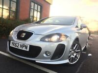 2012 62 plate Seat Leon Supercopa DSG FR+ plus CR TDI 170 silver very rare high specification
