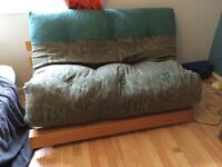 Double futon thick mattress and optional wooden frame
