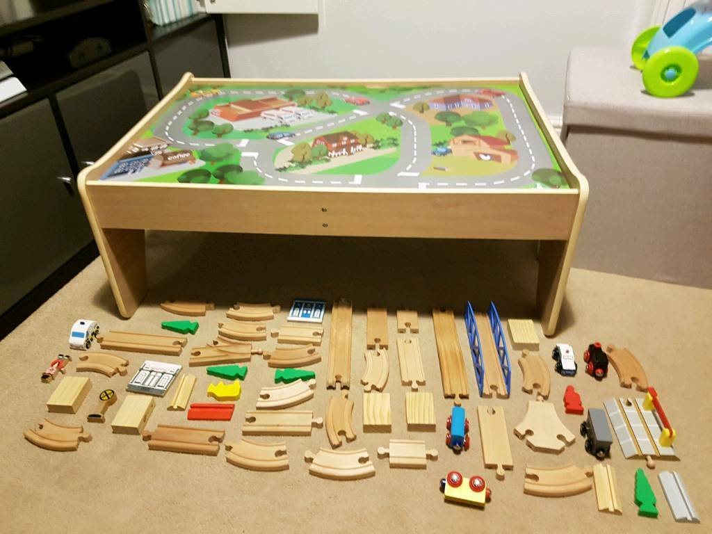 Elc Wooden Train Set And Table Early Learning Centre In Butetown