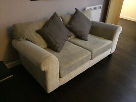 Two bed sofa, grey, smoke and pet free home