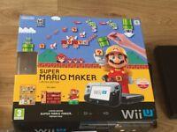 Nintendo Wii U 32GB Super Mario Maker Bundle Excellent Condition As New