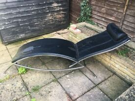 Leather backed recliner - £30