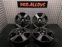 """17"""" FORD ALLOY WHEELS REFURBISHED GLOSS BLACK 5x108 Focus Transit Connect ST"""