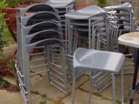job lot of twenty six heavy duty commercial grade stackable bar stools