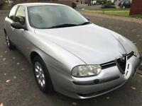 Alfa 156 2.0 T spark 2001, silver, red leather seats, manual, 108k, mot until April 2018