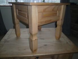 nearly new solid pine side table