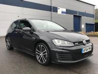 2014 64 plate Volkswagen Golf Gtd dsg 3 door in black mk7 auto automatic diesel - bargain