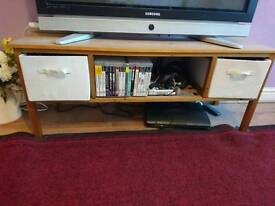 Wooden coffee table/TV unit