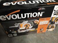 Brand new evolution rage 3 double bevel mitre saw 110v