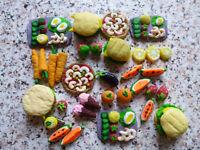 Miniature food for children's kitchen crockery