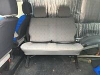 VW T4 Transporter 2 person bench seat with seatbelts