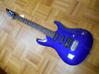 Ibanez electric six string in Jewel blue