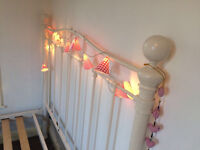 Beautiful shabby chic metal bed ..double