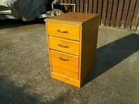 Wood effect 3 drawer filing cabinet
