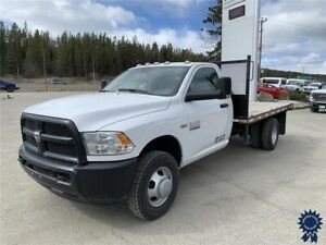 2018 Ram 3500 ST Regular Cab 4X4 DRW 12' Flat Deck, 6.4L V8 Gas