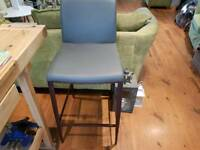 Vintage Retro Style Grey Bar Stool Dining Chair Kitchen Stool