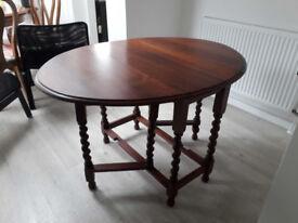 recently restored gateleg table