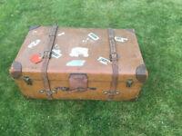 Vintage Leather Cabin Trunk