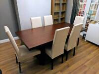 Modena Oak Dining Table and 6 Chairs